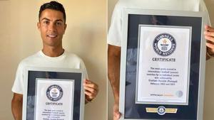 Cristiano Ronaldo recibe Récord Guiness por 111 goles con Portugal
