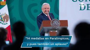 AMLO felicita a delegación mexicana por 14 medallas en Juegos Paralímpicos Tokio 2020
