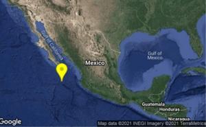 Reportan sismo de magnitud 5.3 en Baja California Sur