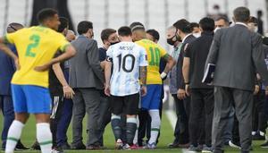 El juego de Brasil vs Argentina se suspende por infracción al protocolo sanitario