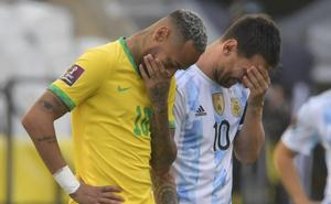 Conmebol confirma suspensión del partido Brasil contra Argentina