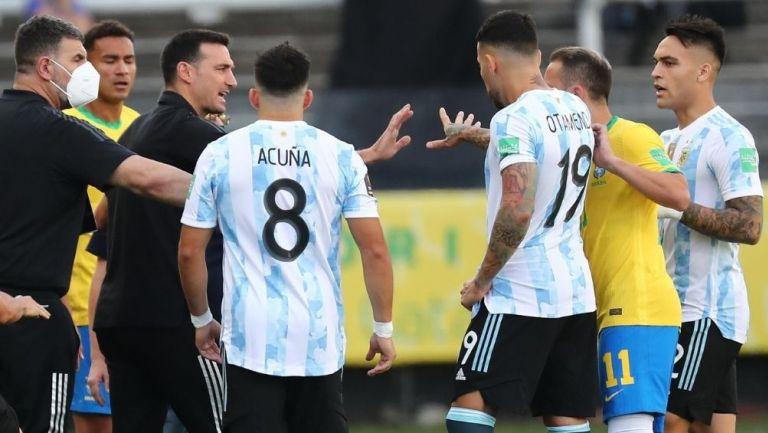 Suspenden partido Argentina-Brasil