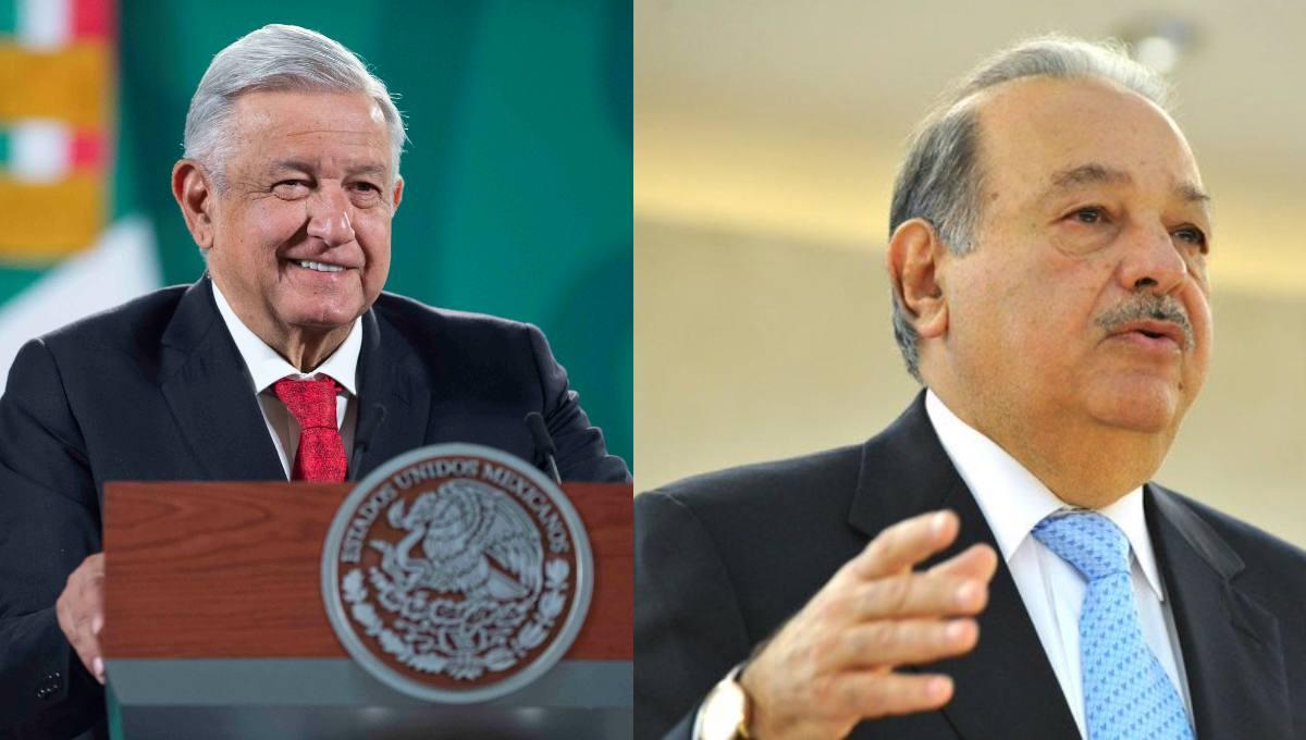 AMLO informa que Carlos Slim construye un tramo de Tren Maya