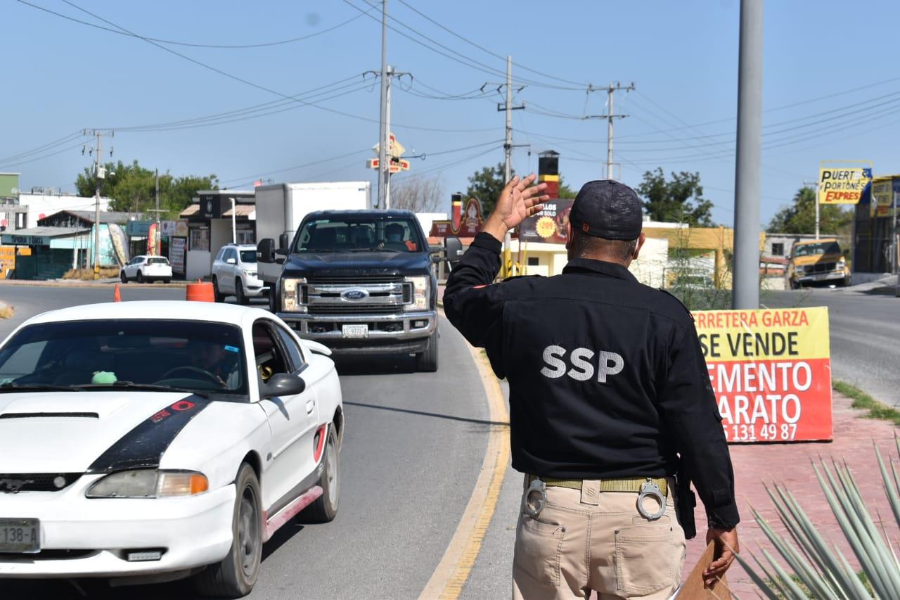 Policía Civil Coahuila mantiene filtros por placas en Monclova