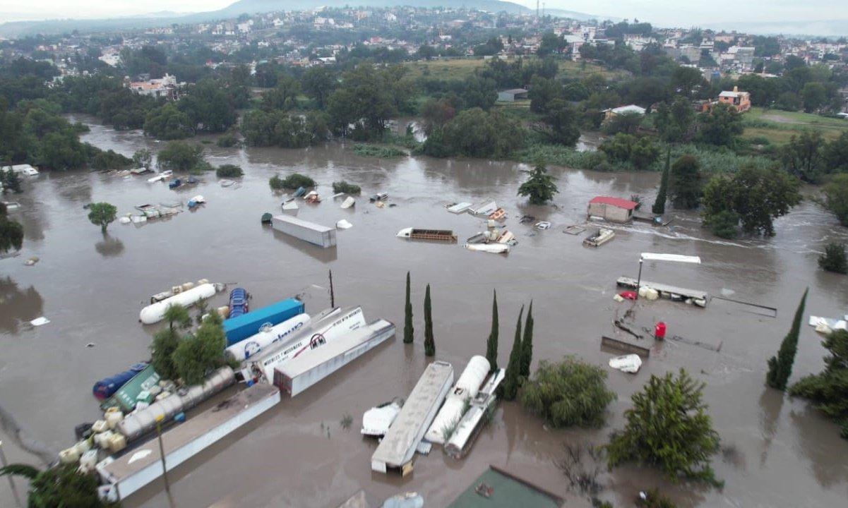 AMLO realizó sobrevuelo en zona afectada por inundaciones: Fayad