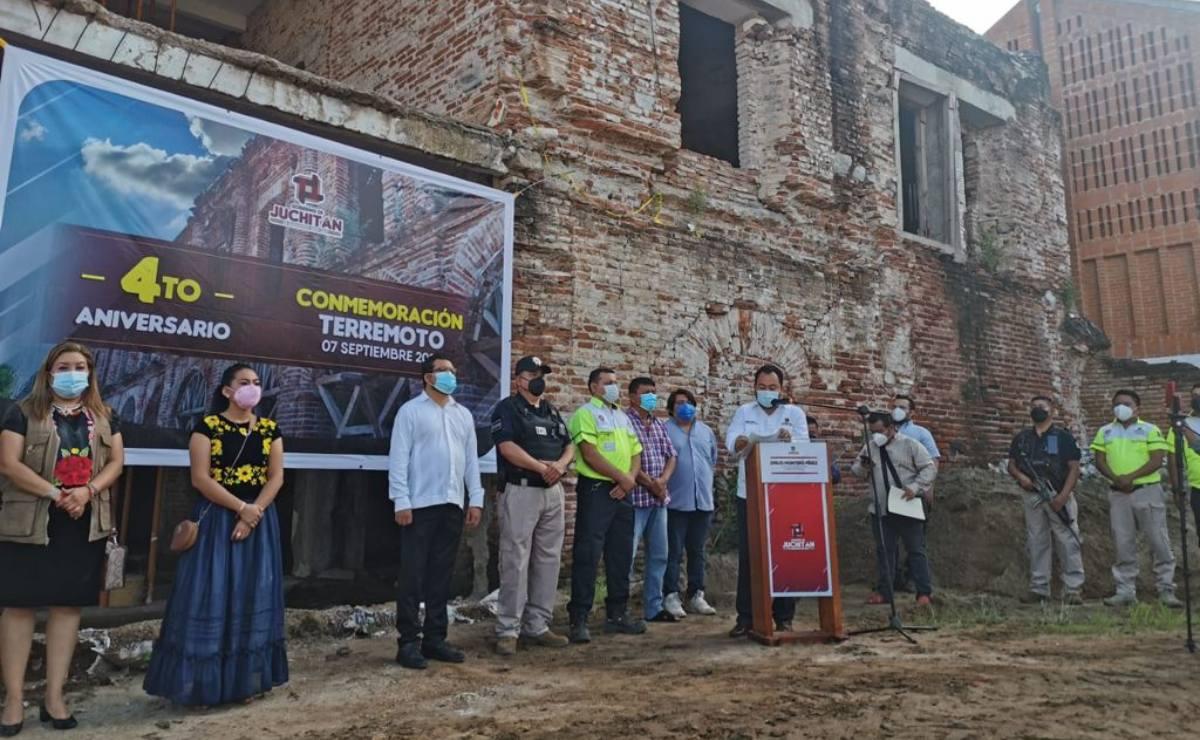 Recuerdan a víctimas de terremoto que devastó Oaxaca hace 4 años