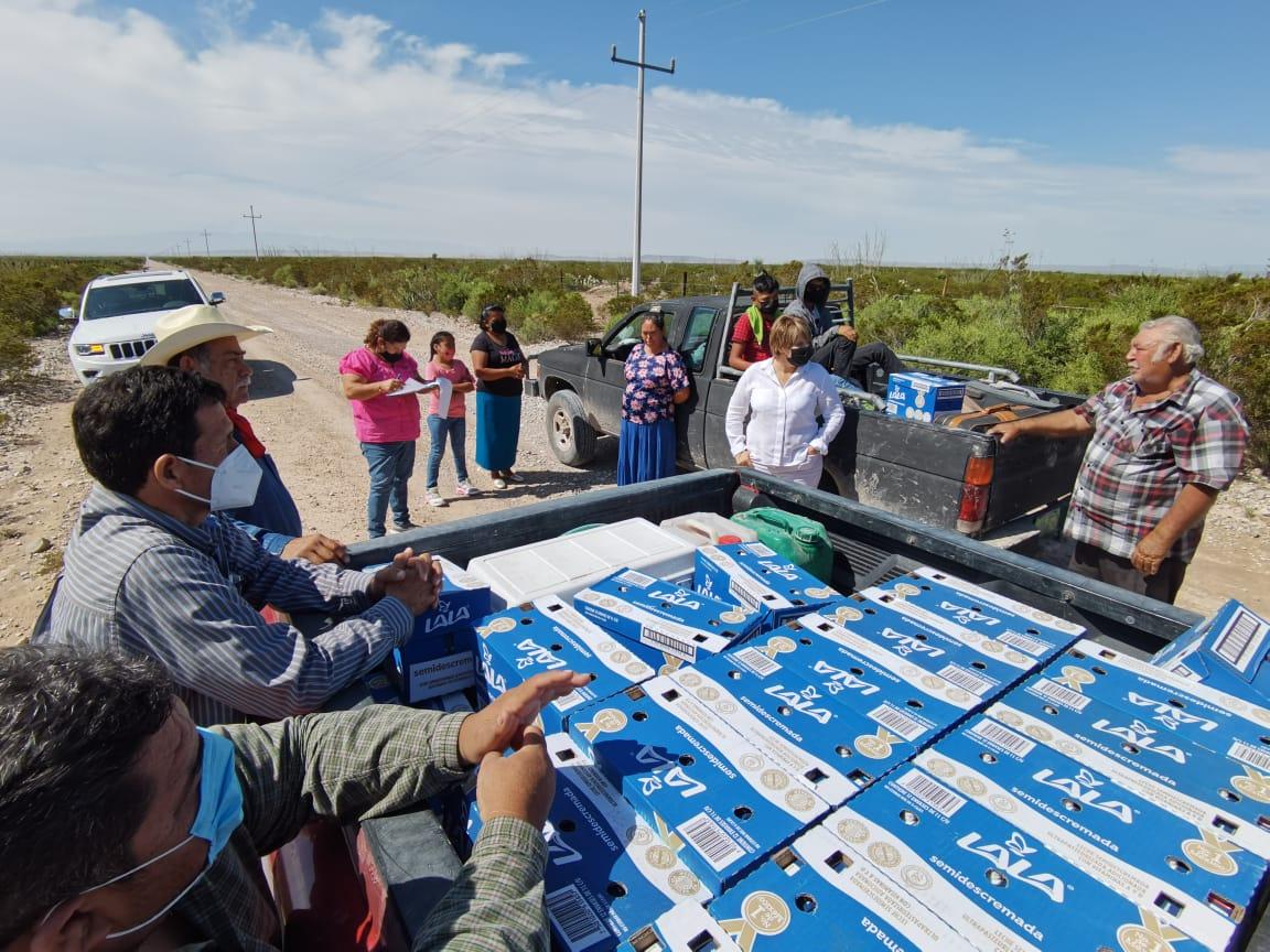 Damnificados del Ejido Estanque de León reciben apoyo de las autoridades