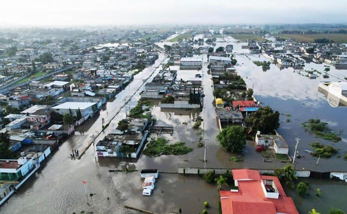 Por inundaciones, declaran zona de desastre a Tlahuelilpan, Hidalgo