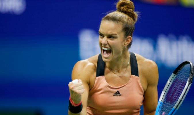 Maria Sakkari llega a su primera semifinal del Abierto y la jugará ante Emma Raducanu