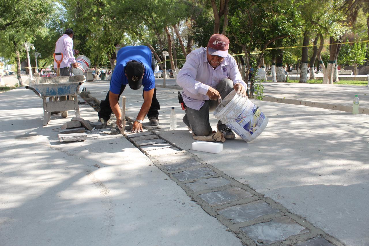 Obras de embanquetado avanzan en zona centro San Buenaventura
