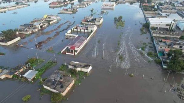 Sigue desbordamiento del río Salado, en Hidalgo