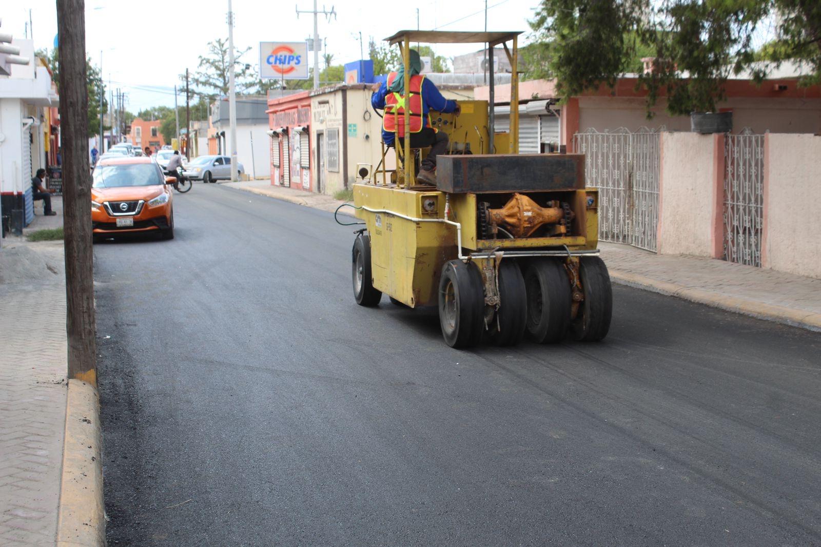 La calle Zaragoza de San Buenaventuratiene nuevo pavimento