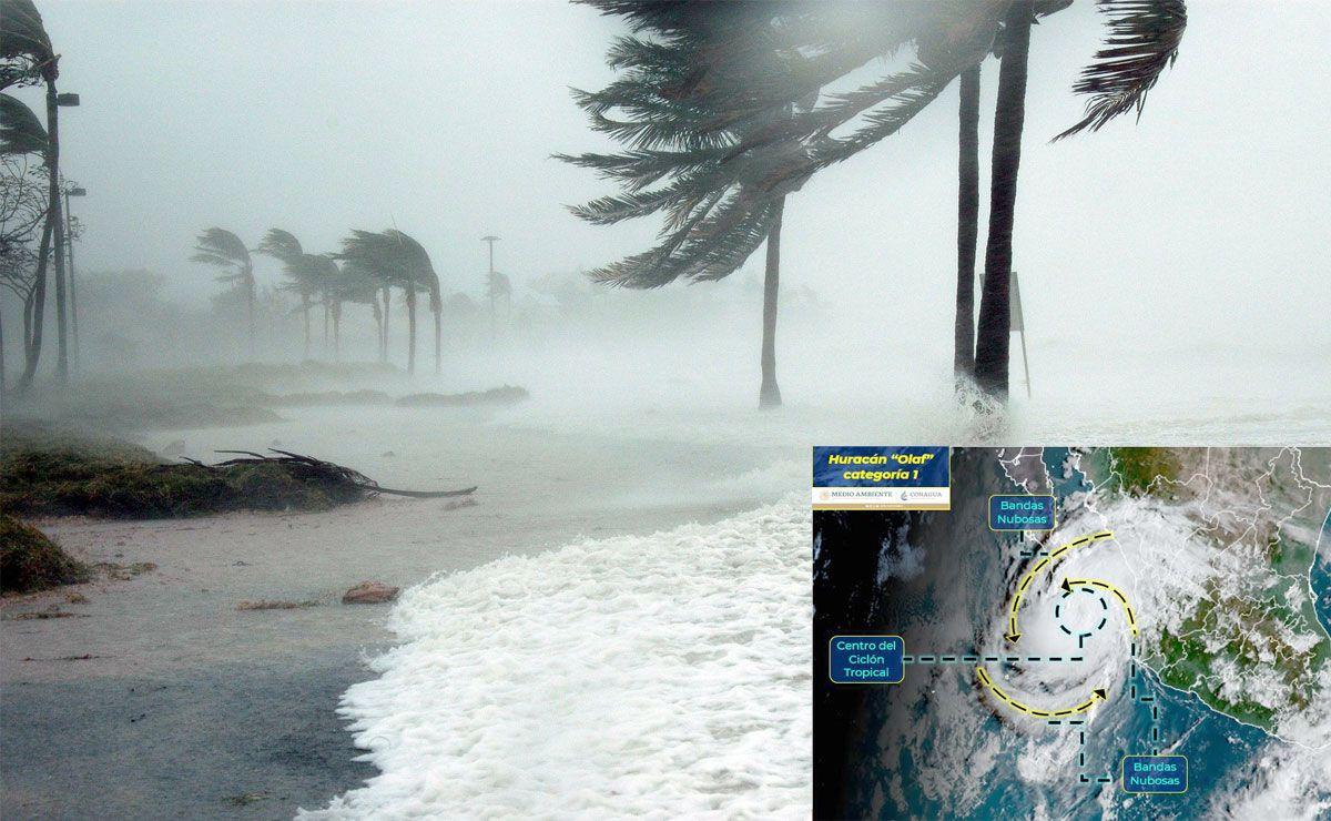 Huracán 'Olaf' impacta en Los Cabos y BCS
