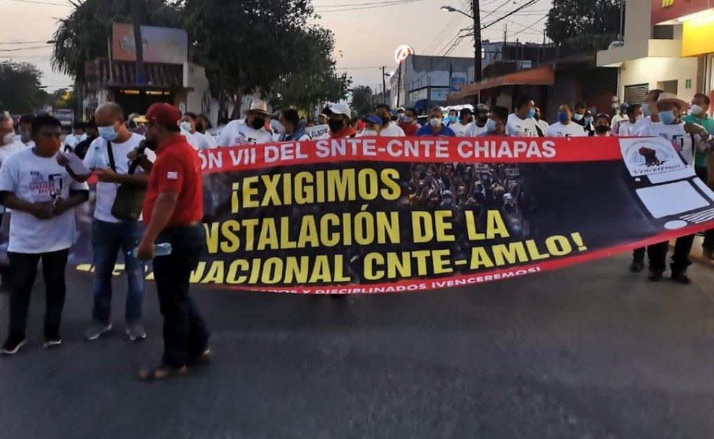 CNTE en Chiapas denuncia desatención de Delfina Gómez