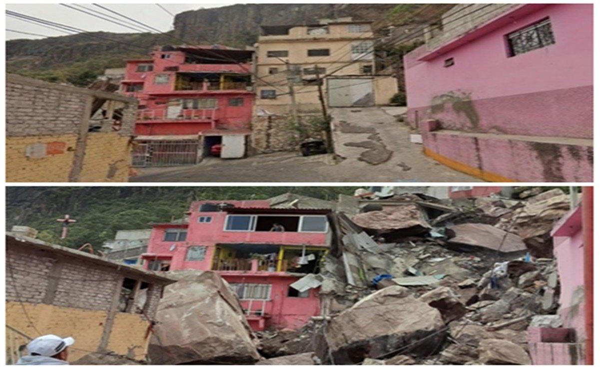 Cerro del Chiquihuite. El antes y el después del derrumbe