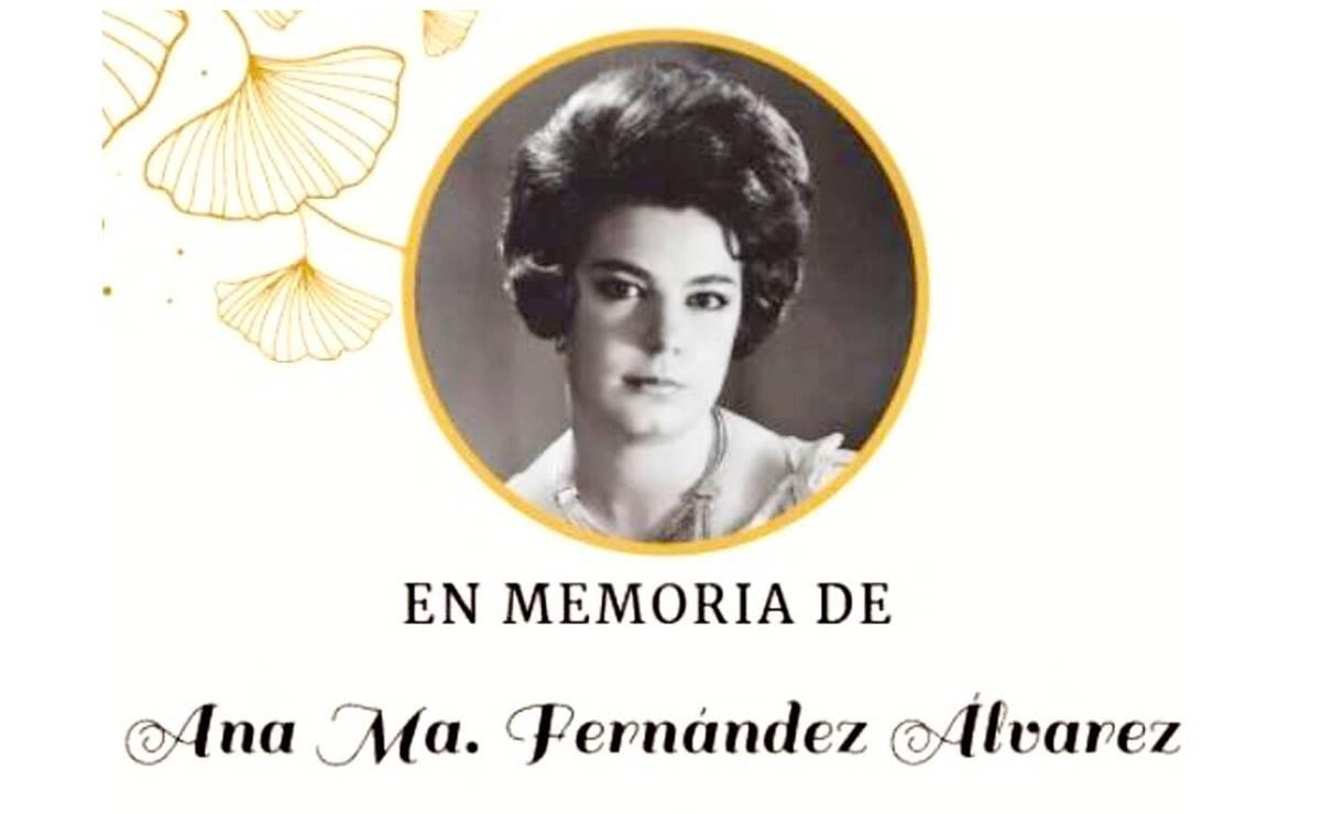 Fallece hermana de José Ramón Fernández