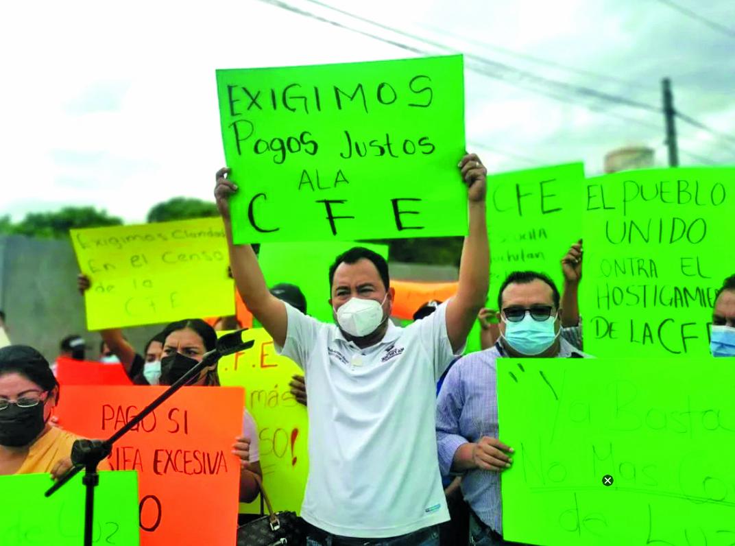 Cabildo de Juchitán protesta contra CFE