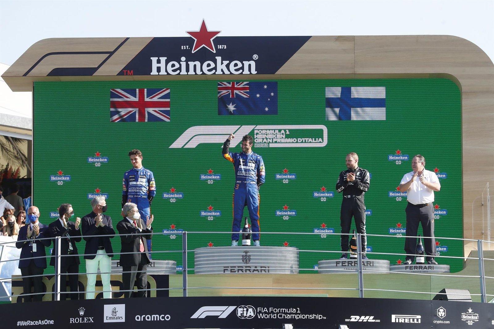 Ricciardo triunfa en el Gran Premio de Italia
