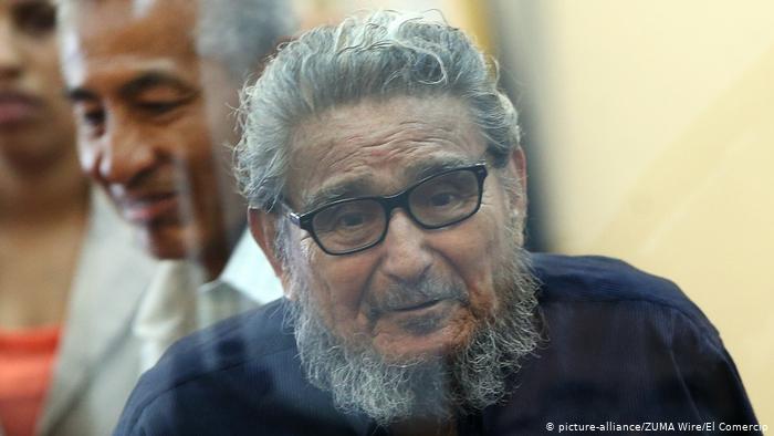 Abimael Guzmán cabecilla del grupo terrorista peruano Sendero Luminoso he fallecido