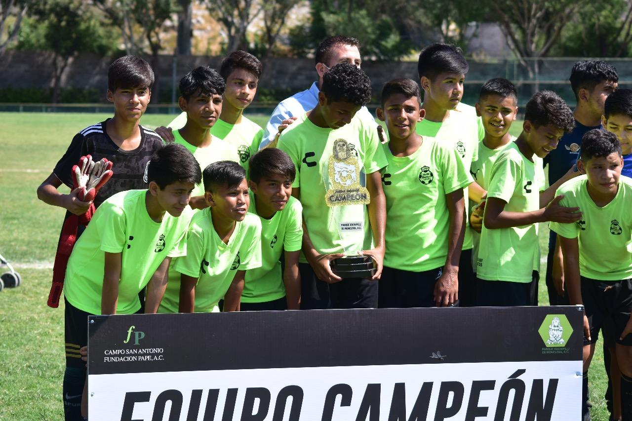 CF Guerreros alza el título de la Juvenil A en el fútbol Xochipilli