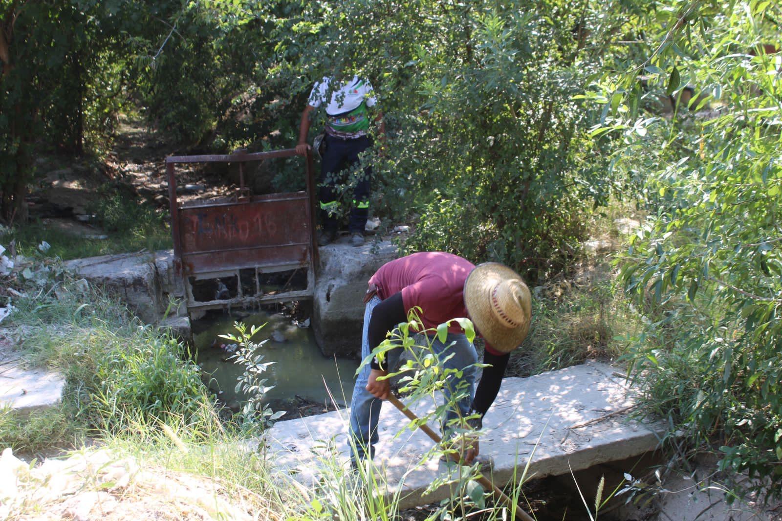 """Ecología limpia usos de la saca de agua """"San Buena"""""""