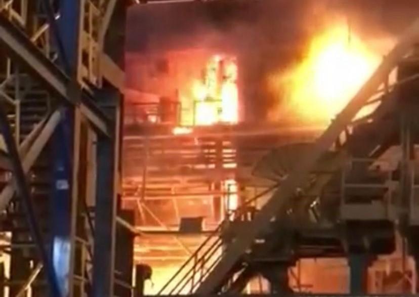 AHMSA 2 sufre incendio por fuga de gas