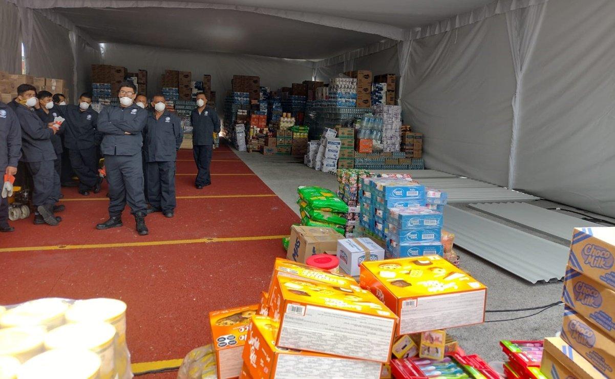 Diputados donan 62 toneladas de víveres para damnificados por Grace