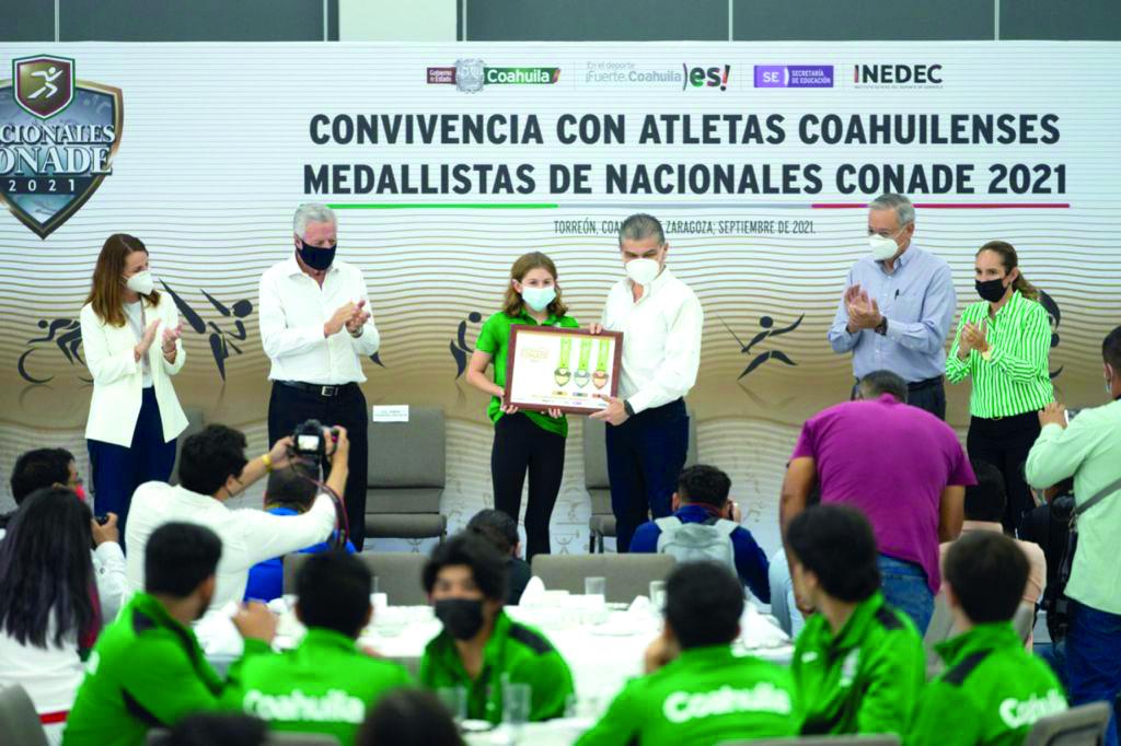 Atletas de Coahuila ganan 112 medallas en Juegos Nacionales de CONADE