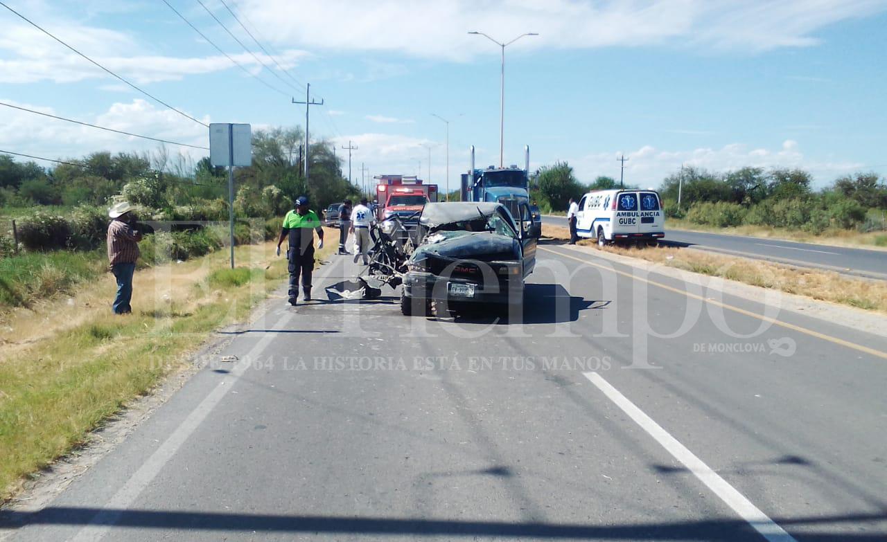 Una embarazada sufre accidente automovilístico en Frontera