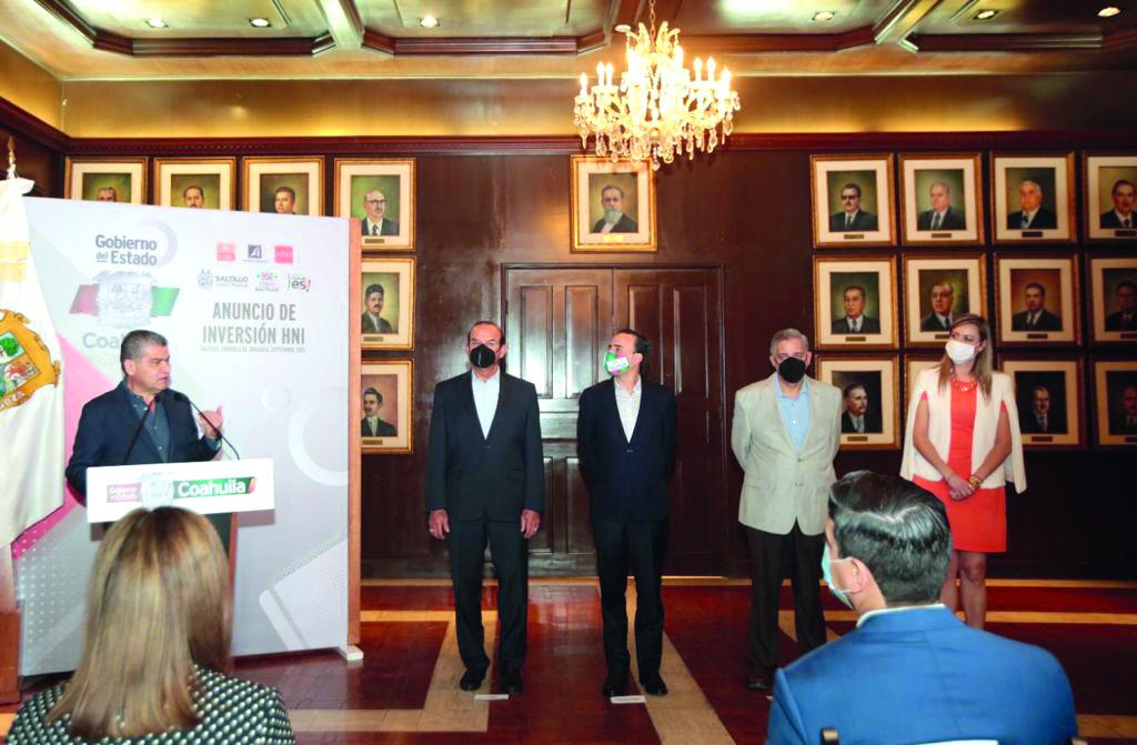 Miguel Riquelme anuncia inversión de la empresa HNI por 18.5 mdd en Saltillo