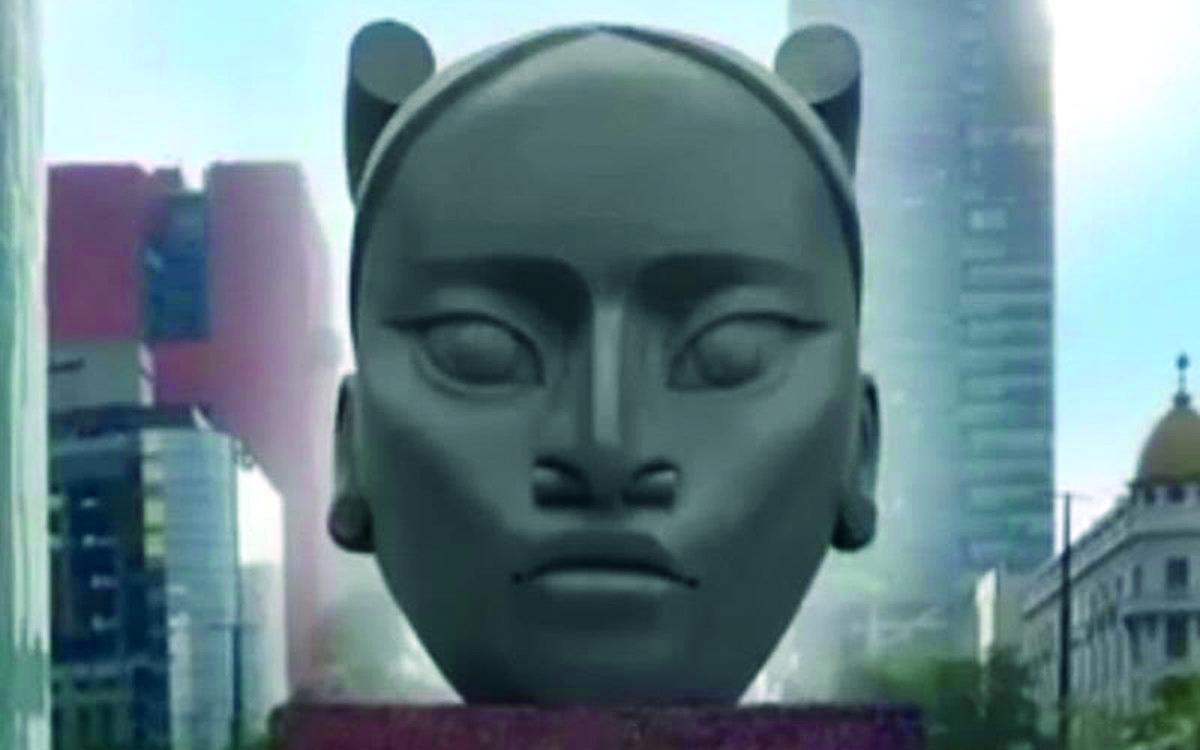 La estatua Tali que sustituiría la de Colón en Reforma, fue descartada