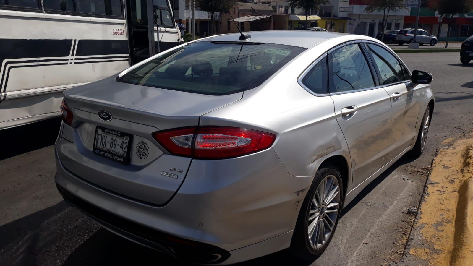 Choque automovilístico en Monclova