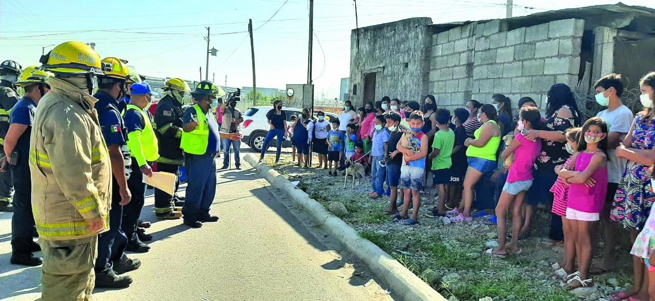 50 familias evacuadas por simulacro en Altos Hornos