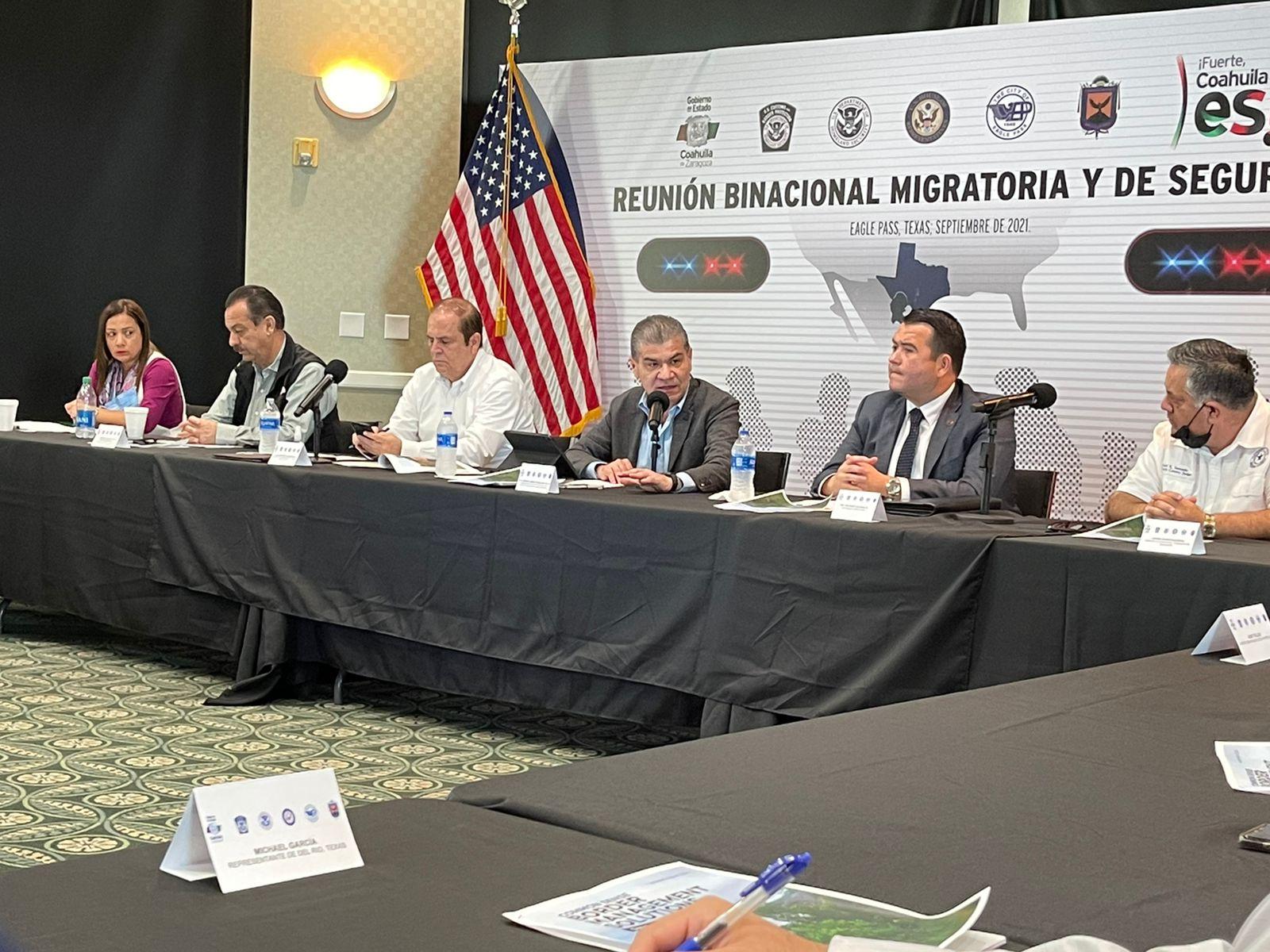 El gobierno de Coahuila y Texas acuerdan mesa operativa para tratar tema migratorio