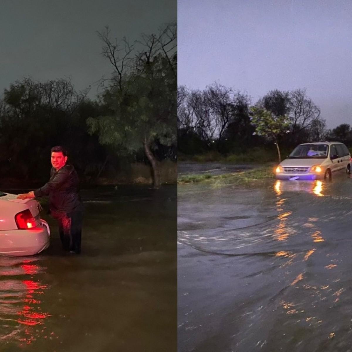 Fuerte tormenta ocasionó fuertes daños a vehículos en Nuevo León