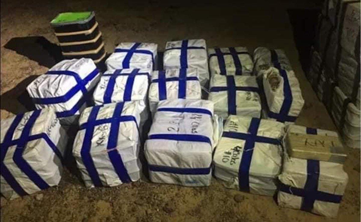 Sedena decomisa aeronave con 978 kilos de droga en Puerto Peñasco