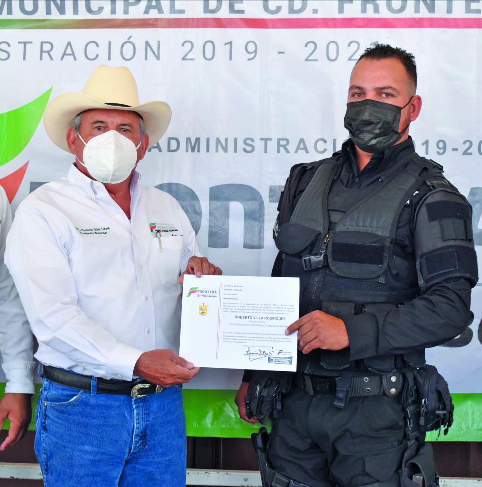 Frontera tiene nuevo subdirector de Seguridad Pública