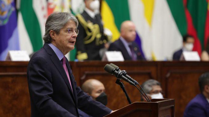 Lasso pide al Parlamento de Ecuador trámite urgente de reformas económicas
