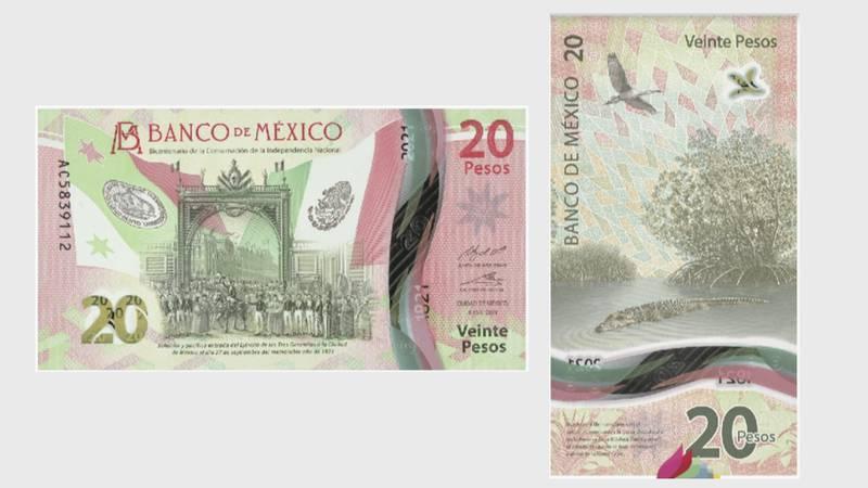 Conoce el nuevo billete de 20 pesos del Banxico, el primero de orientación mixta