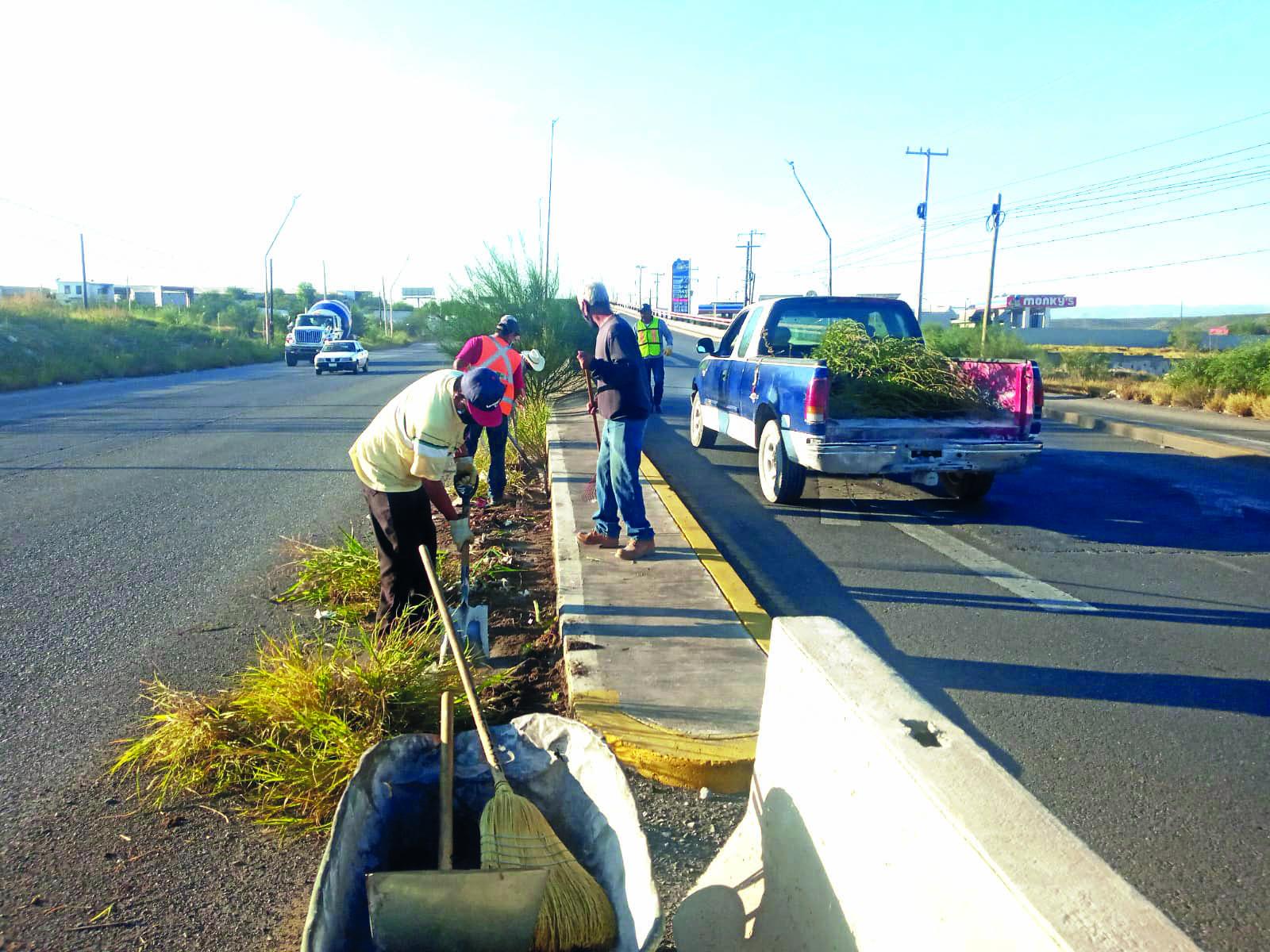 Las acciones de limpieza continúan en Castaños