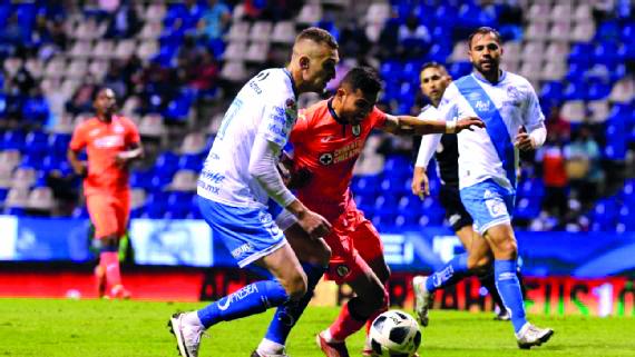 Puebla empata 1-1 contra Cruz Azul