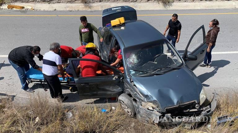 Fuerte accidente en la Saltillo-Monterrey