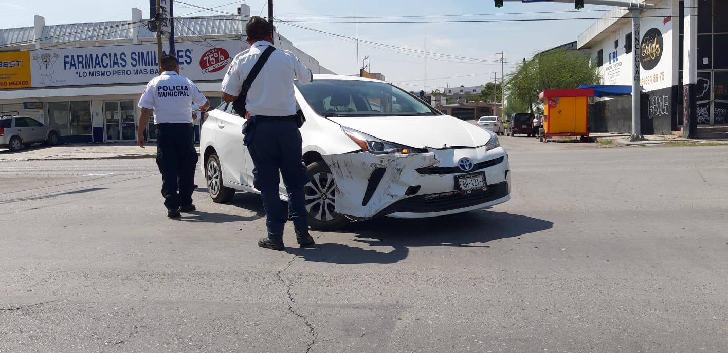 Una conductora choca por alcance en Monclova