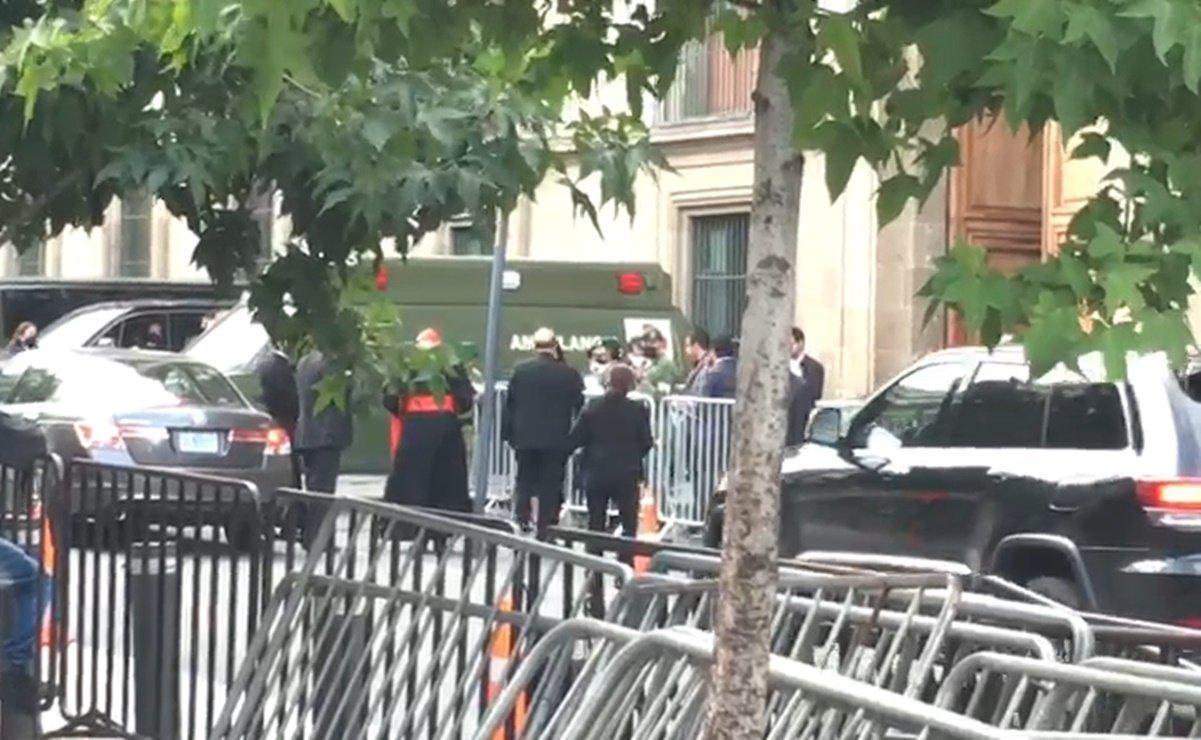 Llegan invitados a la taquiza en Palacio Nacional