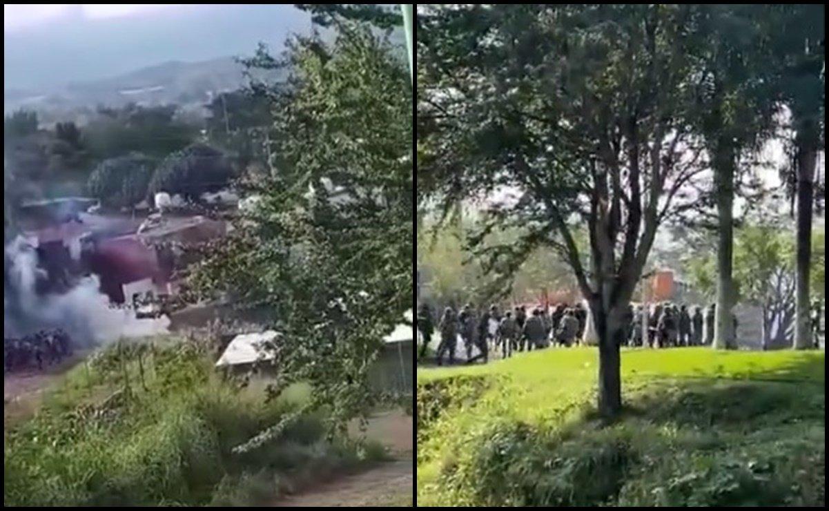Civiles en Michoacán agreden a militares en cuartel