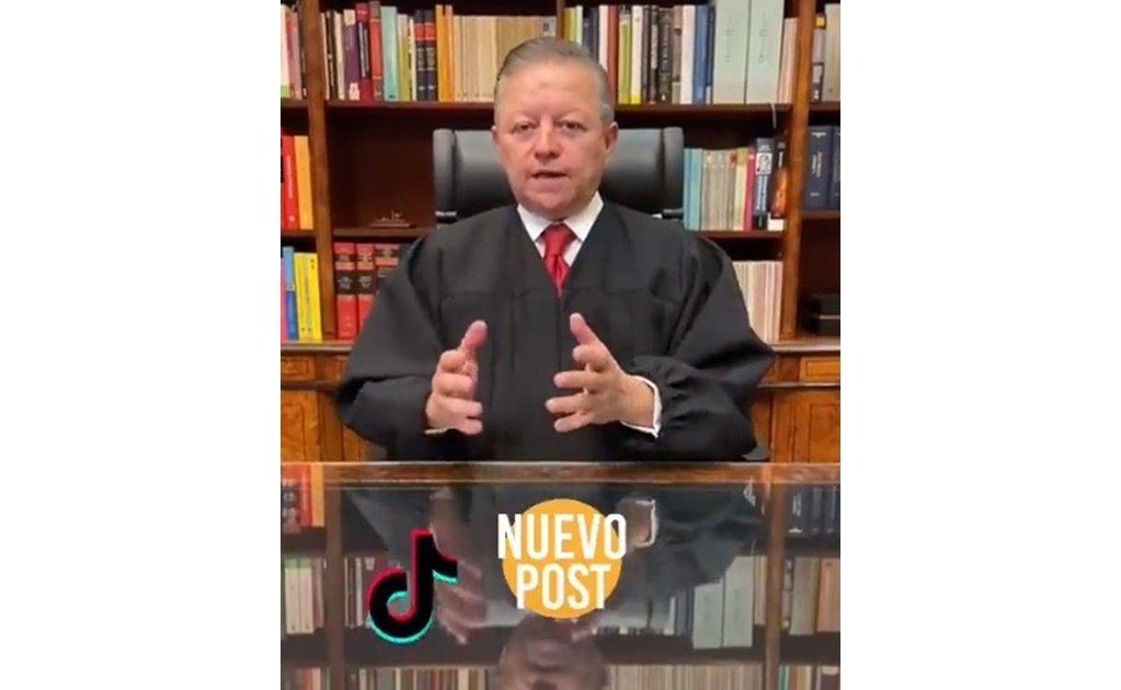 Arturo Zaldívar abre cuenta de TikToK 'para acercarse a los jóvenes'
