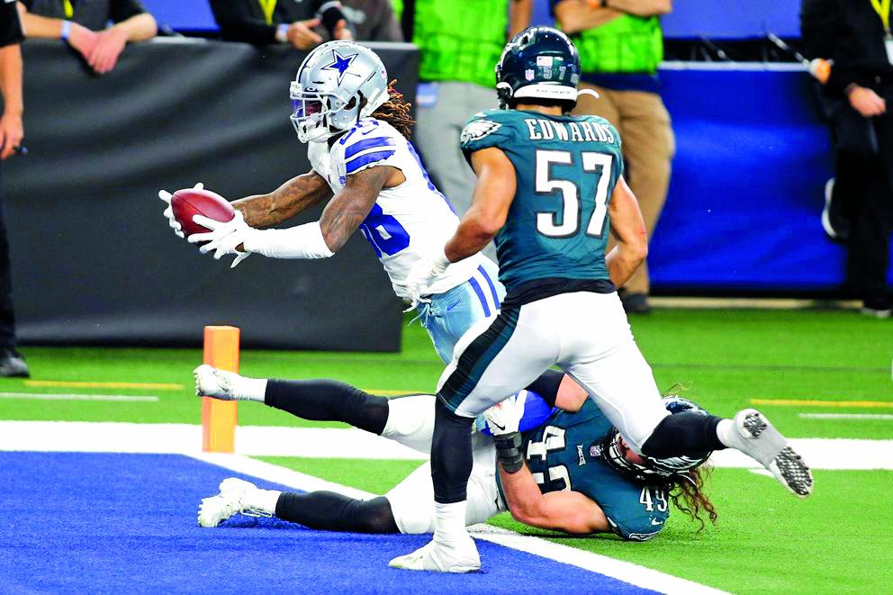 Cowboys apalea a los Eagles y toman la cima