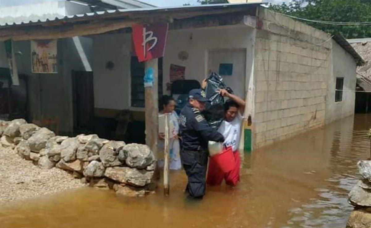 Identifican 64 comunidades de Yucatán en riesgo por inundaciones