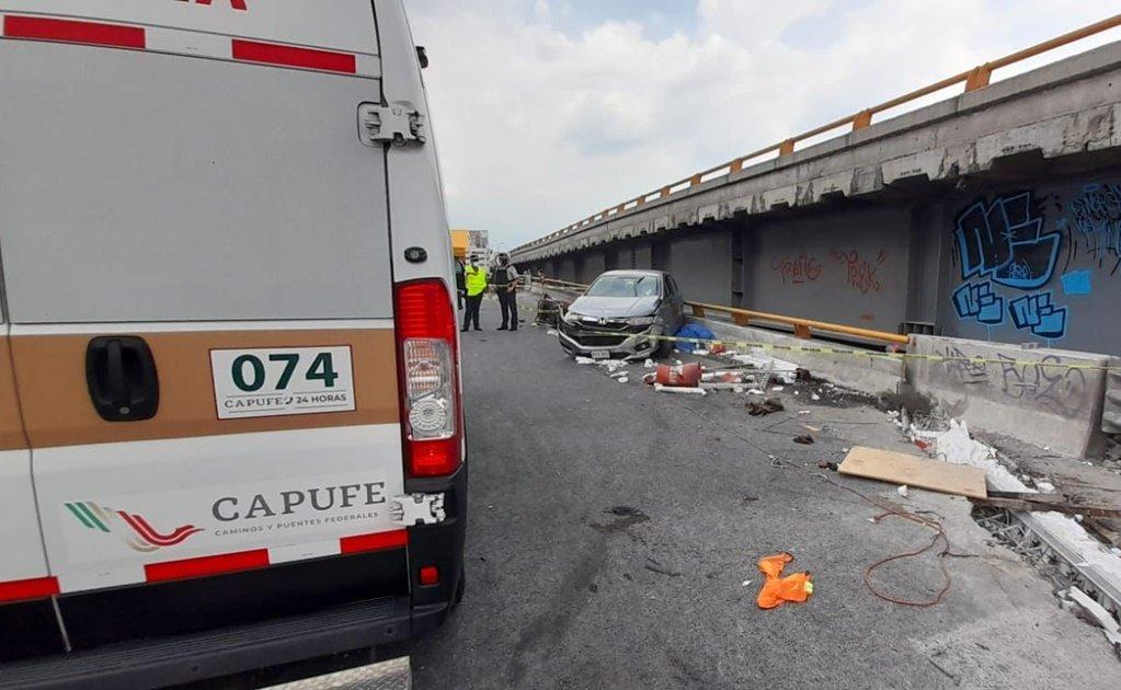 Vehículo arrolla a 5 trabajadores de obras en la México-Puebla