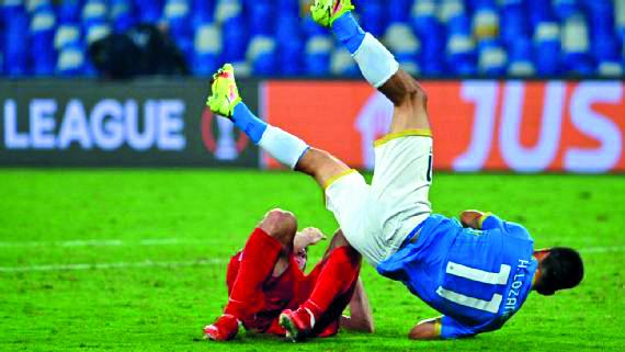 Napoli, en caída libre dentro de la Europa League